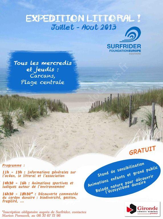 Se divertir dans le m doc agenda exp dition littoral - Carcans maubuisson office de tourisme ...