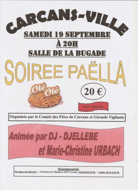 Se divertir dans le m doc agenda soir e paella - Carcans maubuisson office de tourisme ...