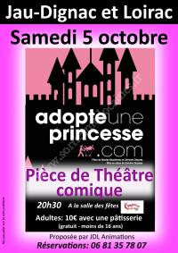 Pièce de théâtre comique : adopte une princesse.com