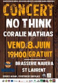 Concert chez La Brasserie Nauera : Coralie Mathias et No-Think