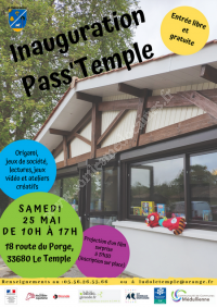 Inauguration de la ludobibliothèque Pass'Temple