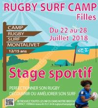Rugby Surf Camp Filles 2018
