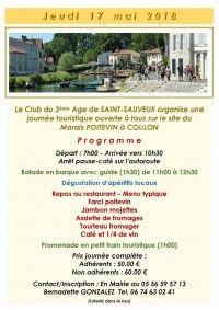 Journée Touristique sur le site du Marais Poitevin à Coulon