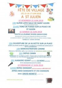 FETE DE VILLAGE A ST JULIEN
