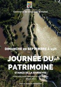 Journées du Patrimoine 2020 : Etang de la Barreyre