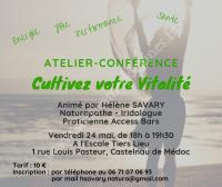 Atelier-conférence : Cultivez votre Vitalité