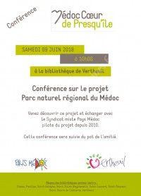 Conférence sur le projet Parc naturel régional du Médoc