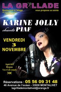 Repas-Spectacle : Karine Jolly chante Piaf