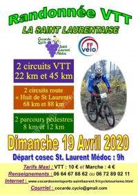 Randonnée VTT La Saint Laurentaise 2020
