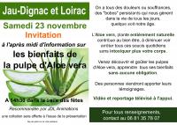 Invitation sur les bienfaits de la pulpe d'Aloe vera