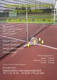 Tournoi de Tennis Club de Lesparre Médoc 2018