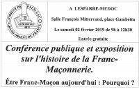 Conférence publique et exposition sur l'histoire de la Franc Maçonnerie