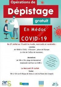 COVID19 : Opération de dépistage
