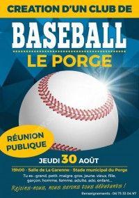 Réunion Publique : Création d'un club de Baseball