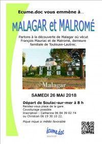 Visite de Malagar et Malromé