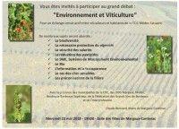 Grand Débat : Environnement et Viticulture