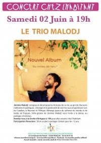 Concert chez l'habitant avec le trio Malodj