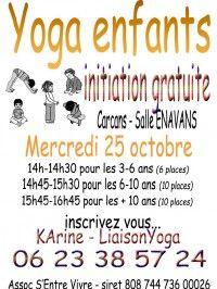 Initiation  Gratuite Yoga Enfants