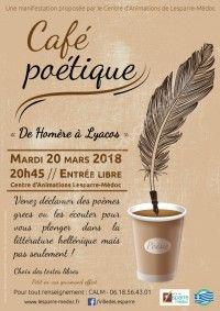 Café Poétique De Homère à Lyacos