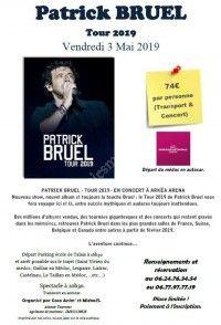 Patrick BRUEL TOUR 2019 départ Médoc