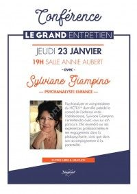 Conférence - Le grand entretien avec Sylviane Giampino