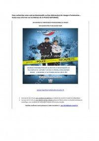 Réunion d'information Police Nationale