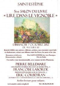 Salon du Livre 2012 Lire Dans Le Vignoble