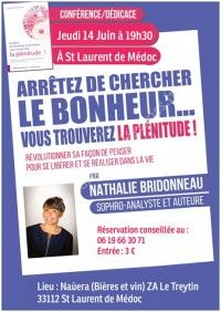 Conférence & Dédicace de Nathalie Bridonneau
