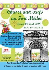 Chasse aux Oeufs au Fort Médoc 2018