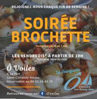 Soirée Brochette
