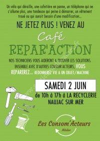 Café Répar'Action à La Recyclerie de Naujac