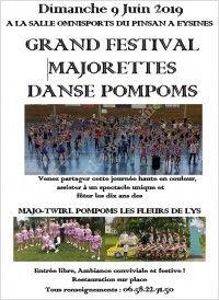 Grand Festival Majorettes Danse Pompoms des Fleurs de Lys