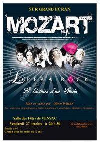 """""""Mozart, l'Opéra Rock"""" sur grand écran"""