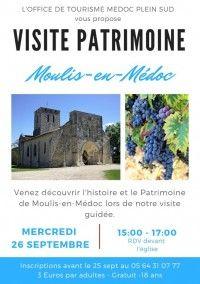 Visite Patrimoine : Moulis-en-Médoc