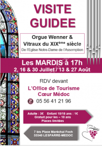 Visite Guidée Orgue Wenner & Vitraux du XIXème Siècle