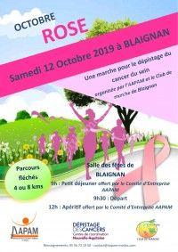 Marche rose pour le dépistage du cancer du sein