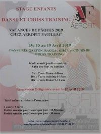 Stage enfants : danse et cross training