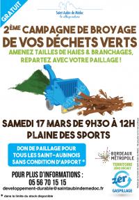 Broyage de vos déchets verts