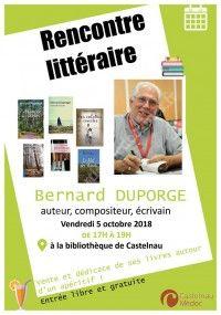 Rencontre Littéraire avec Bernard Duporge