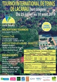 Tournoi International de Tennis de Lacanau 2019