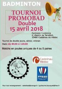 Badminton - Tournoi Promobad Double