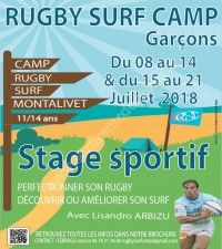 Rugby Surf Camp Garçons 2018