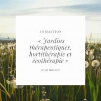 Formation : Jardins thérapeutiques, hortithérapie et écothérapie