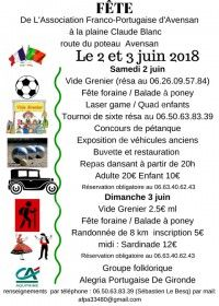 Fête de l'Association Franco-Portugaise d'Avensan