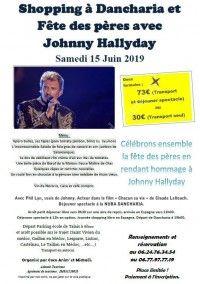 Déjeuner spectacle Johnny Hallyday à Dancharia