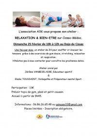 Atelier Relaxation & Bien Etre