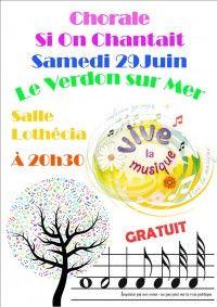"""Concert de la Chorale """"Si On Chantait"""""""