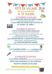 Fête de Village à Saint-Julien