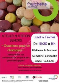 Atelier nutrition seniors : Questions pour un champion