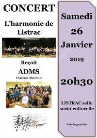 Concert d'hiver de l'harmonie de Listrac